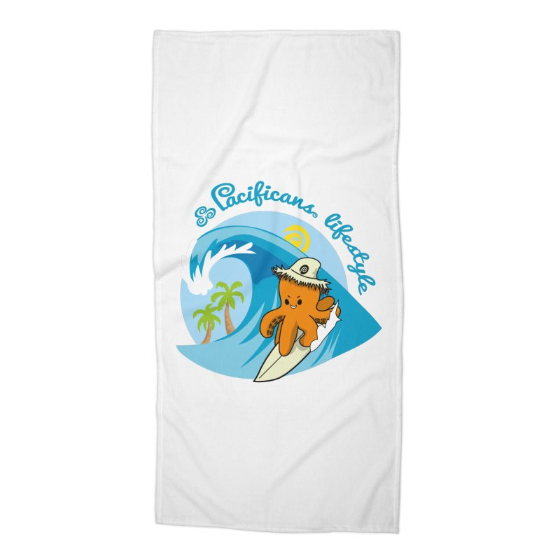 Heke Surfin' Accessories Beach Towel by Pacificans' Artist Shop