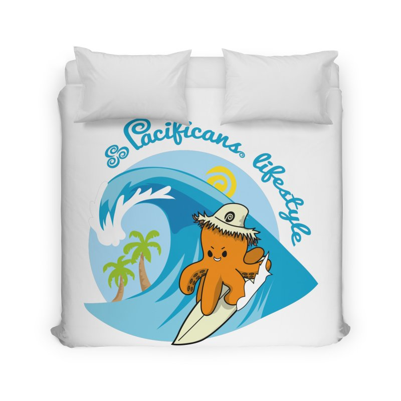Heke Surfin' Home Duvet by Pacificans' Artist Shop
