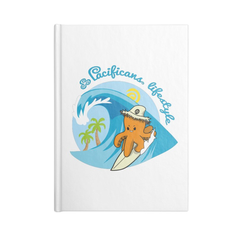 Heke Surfin' Accessories Lined Journal Notebook by Pacificans' Artist Shop
