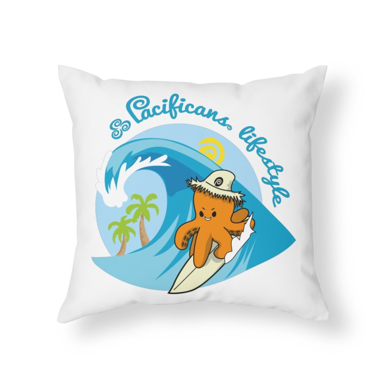 Heke Surfin' Home Throw Pillow by Pacificans' Artist Shop