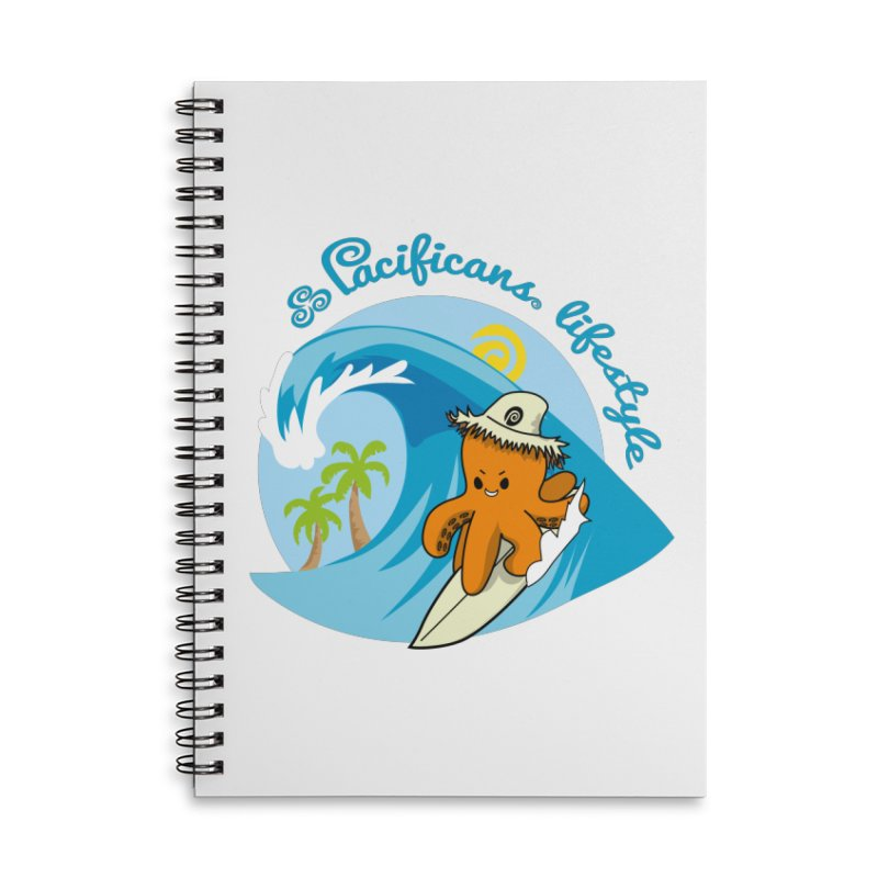 Heke Surfin' Accessories Lined Spiral Notebook by Pacificans' Artist Shop