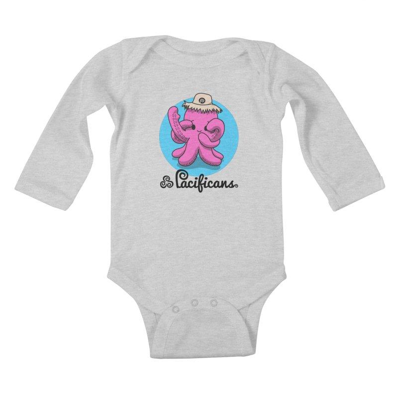 Heke Kawaii Kids Baby Longsleeve Bodysuit by Pacificans' Artist Shop