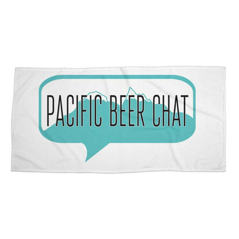 Pacific Beer Chat Logo Accessories Beach Towel by Pacific Beer Chat Shop