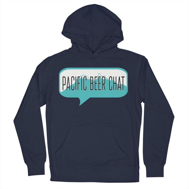 Pacific Beer Chat Logo Men's French Terry Pullover Hoody by Pacific Beer Chat Shop