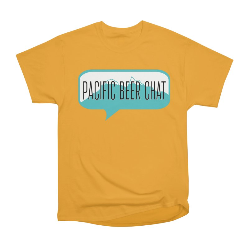 Pacific Beer Chat Logo Men's Heavyweight T-Shirt by Pacific Beer Chat Shop