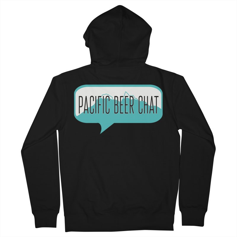 Pacific Beer Chat Logo Men's French Terry Zip-Up Hoody by Pacific Beer Chat Shop