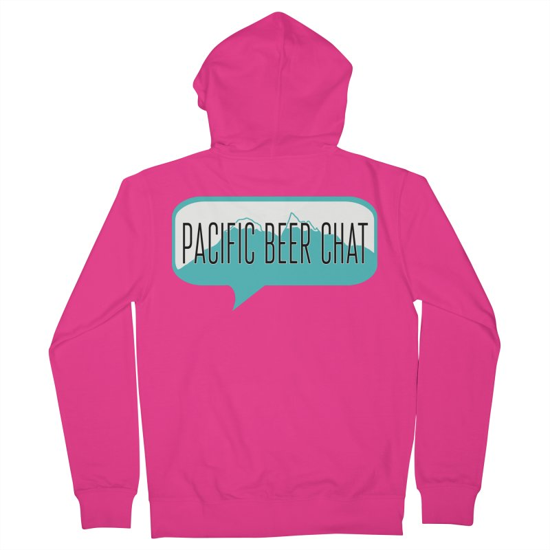 Pacific Beer Chat Logo Men's Zip-Up Hoody by Pacific Beer Chat Shop
