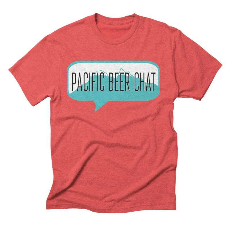 Pacific Beer Chat Logo Men's Triblend T-Shirt by Pacific Beer Chat Shop