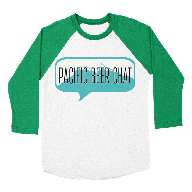 Pacific Beer Chat Logo Men's Baseball Triblend Longsleeve T-Shirt by Pacific Beer Chat Shop