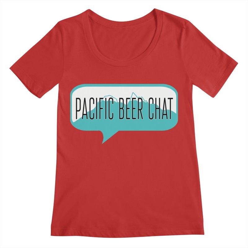 Pacific Beer Chat Logo Women's Regular Scoop Neck by Pacific Beer Chat Shop