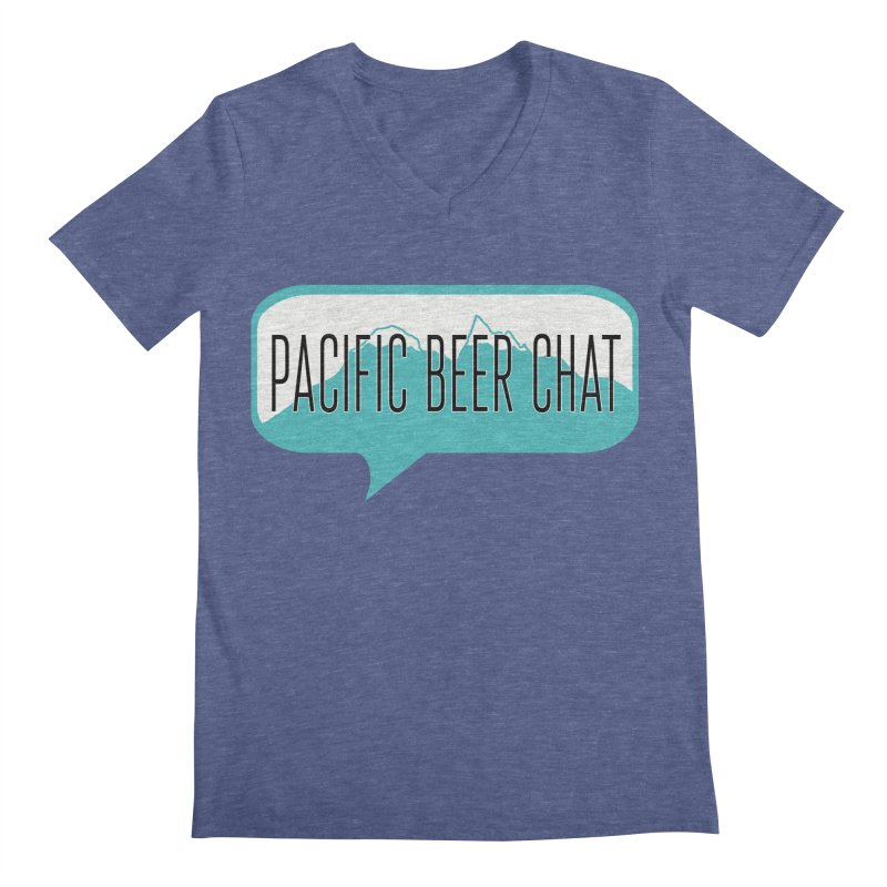 Pacific Beer Chat Logo Men's V-Neck by Pacific Beer Chat Shop