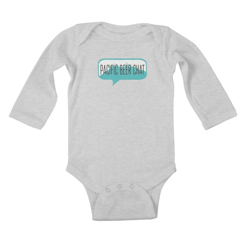 Pacific Beer Chat Logo Kids Baby Longsleeve Bodysuit by Pacific Beer Chat Shop