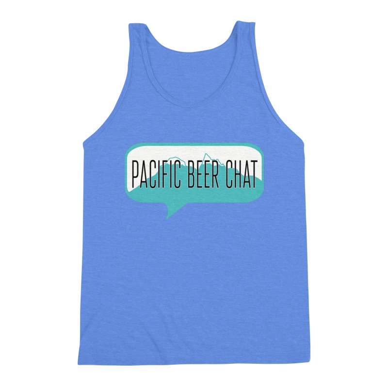 Pacific Beer Chat Logo Men's Triblend Tank by Pacific Beer Chat Shop