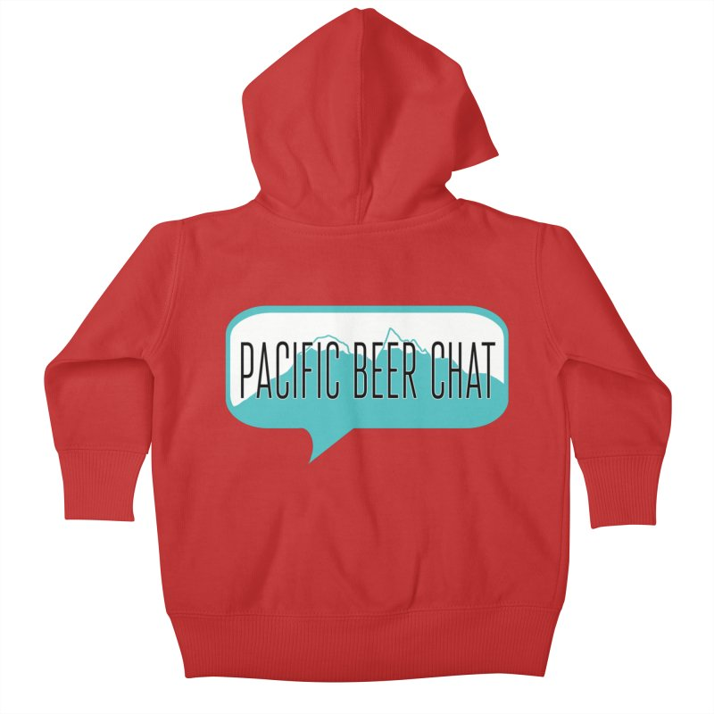 Pacific Beer Chat Logo Kids Baby Zip-Up Hoody by Pacific Beer Chat Shop