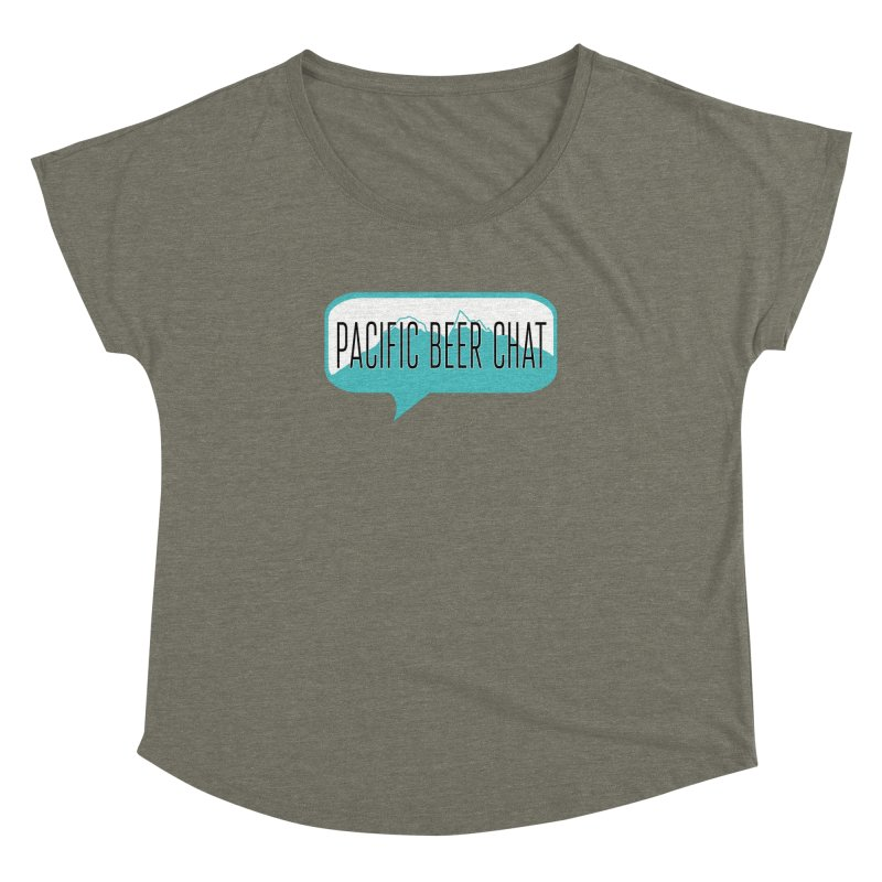 Pacific Beer Chat Logo Women's Dolman Scoop Neck by Pacific Beer Chat Shop