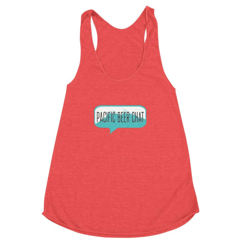 Pacific Beer Chat Logo Women's Racerback Triblend Tank by Pacific Beer Chat Shop