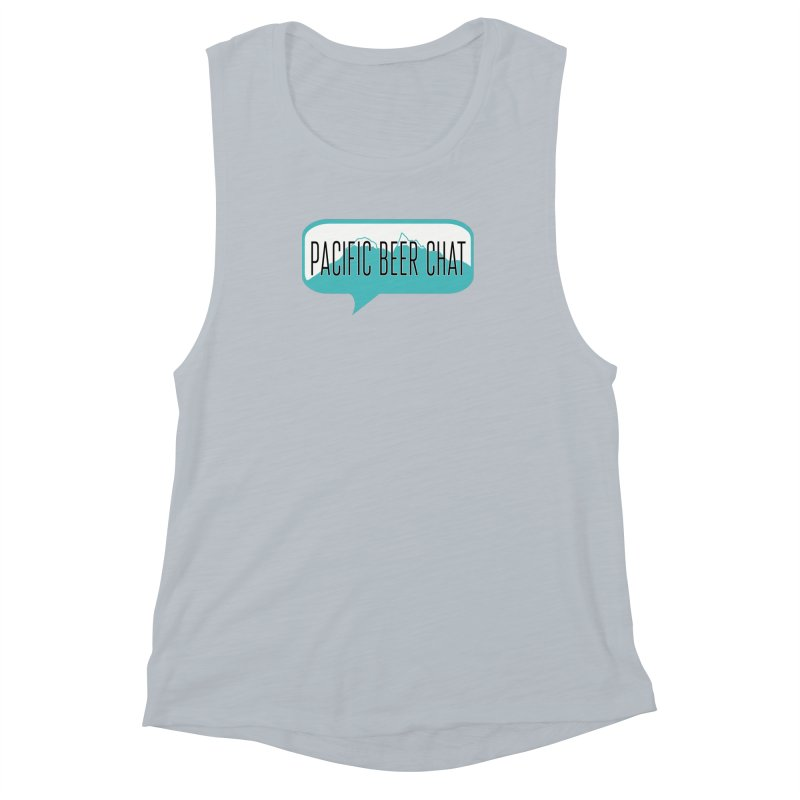 Pacific Beer Chat Logo Women's Muscle Tank by Pacific Beer Chat Shop
