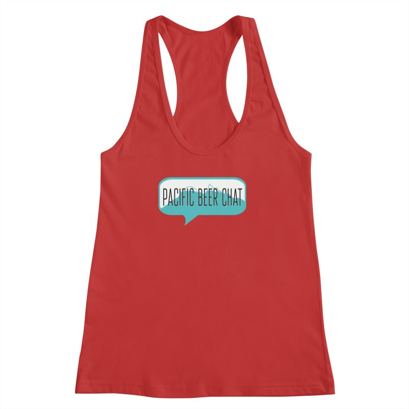 Pacific Beer Chat Logo Women's Racerback Tank by Pacific Beer Chat Shop