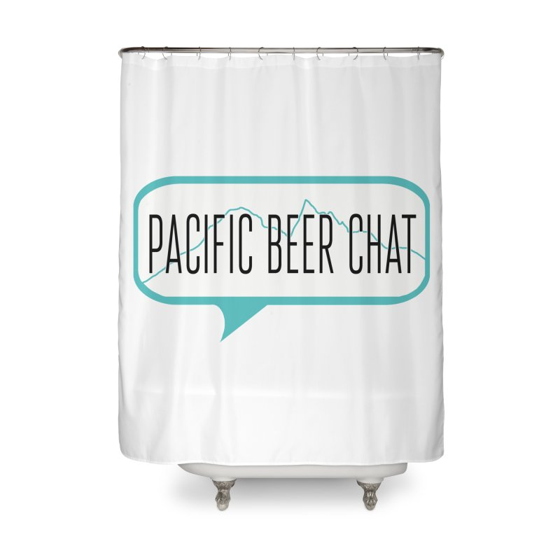 Alternative Logo Home Shower Curtain by Pacific Beer Chat Shop