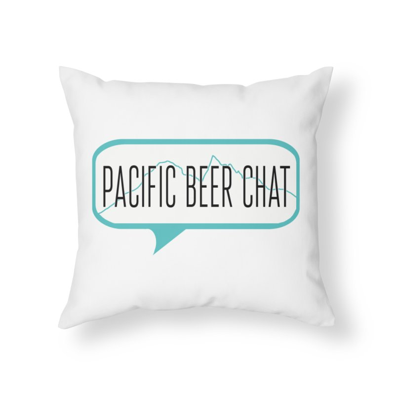 Alternative Logo Home Throw Pillow by Pacific Beer Chat Shop