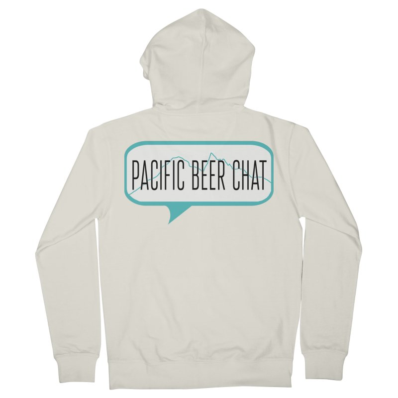 Alternative Logo Men's French Terry Zip-Up Hoody by Pacific Beer Chat Shop
