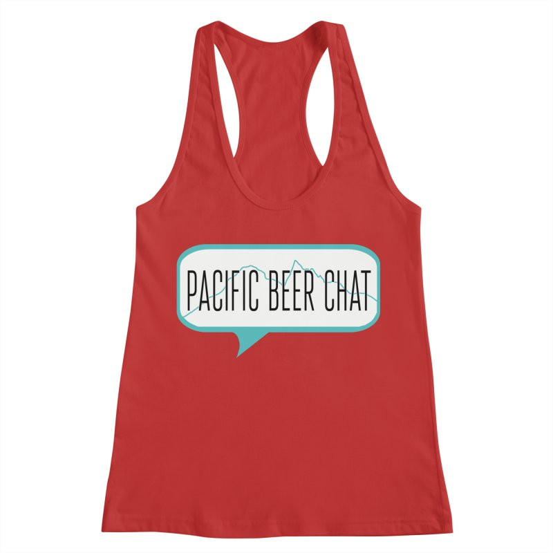Alternative Logo Women's Racerback Tank by Pacific Beer Chat Shop