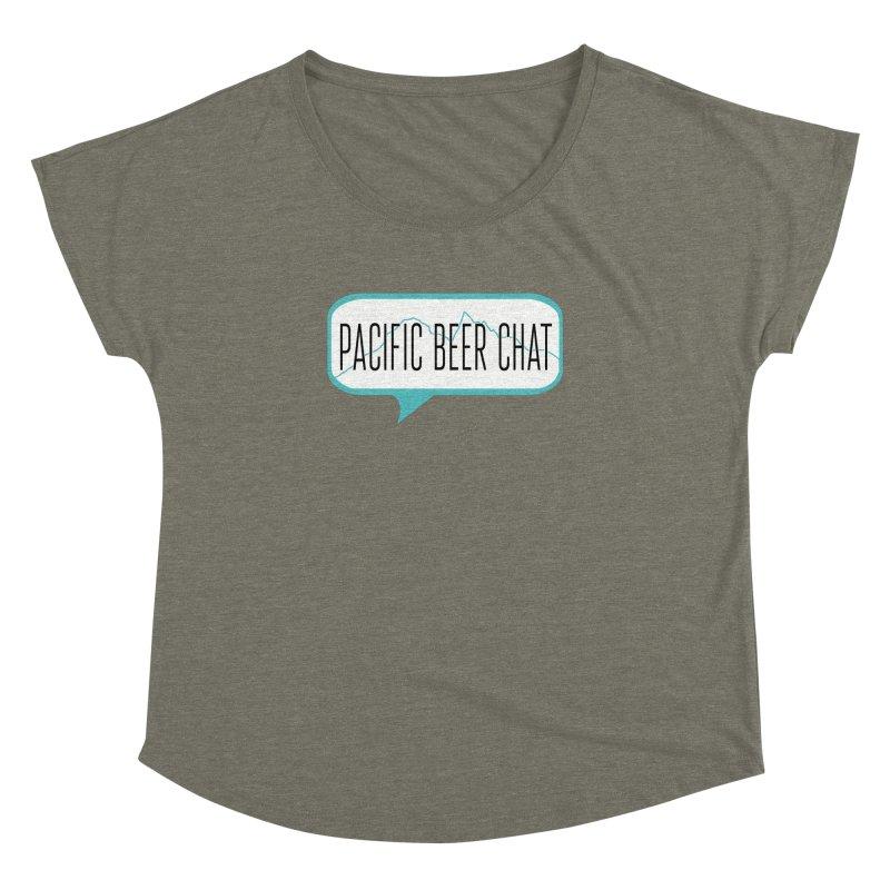 Alternative Logo Women's Dolman Scoop Neck by Pacific Beer Chat Shop