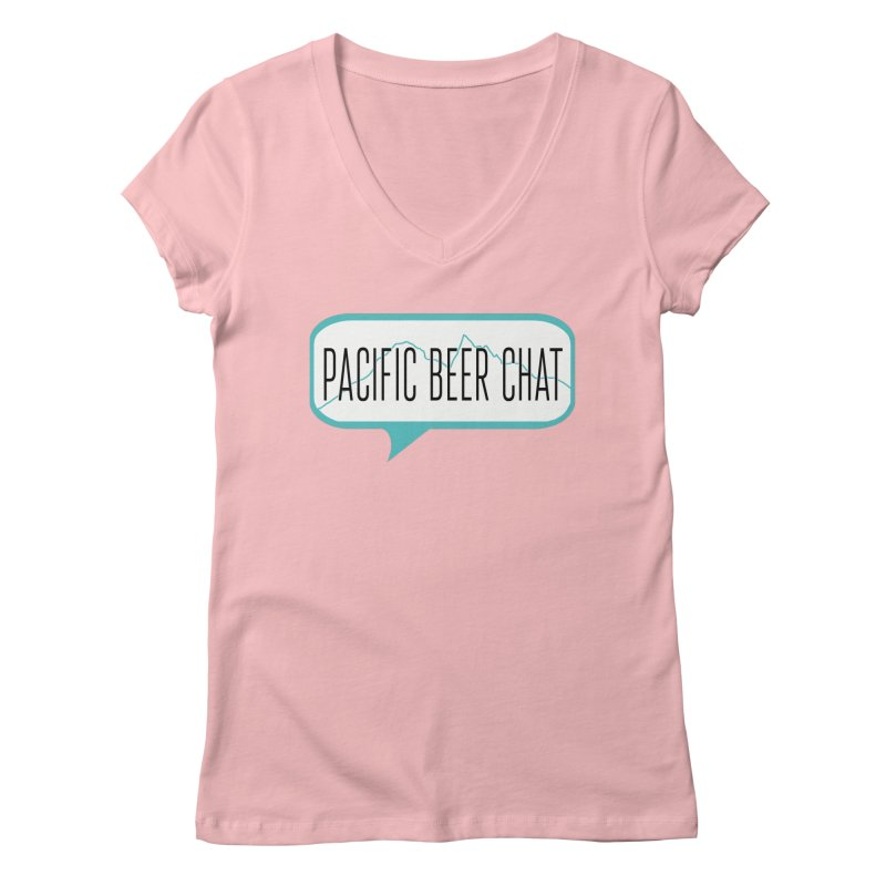 Alternative Logo Women's Regular V-Neck by Pacific Beer Chat Shop