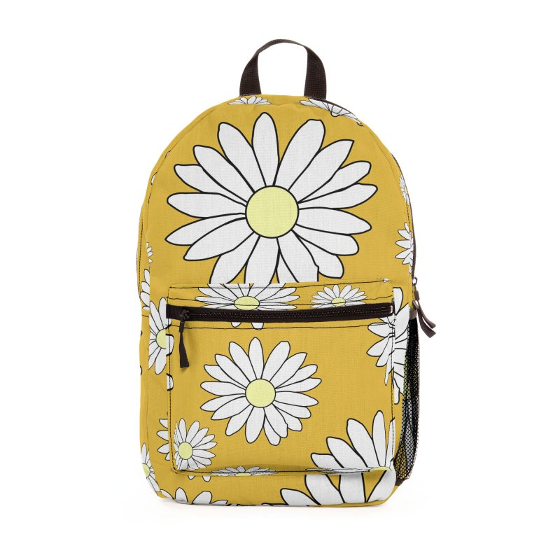 Daisy Chain Luscious Lime Accessories Bag by Painting Goat's Artist Shop
