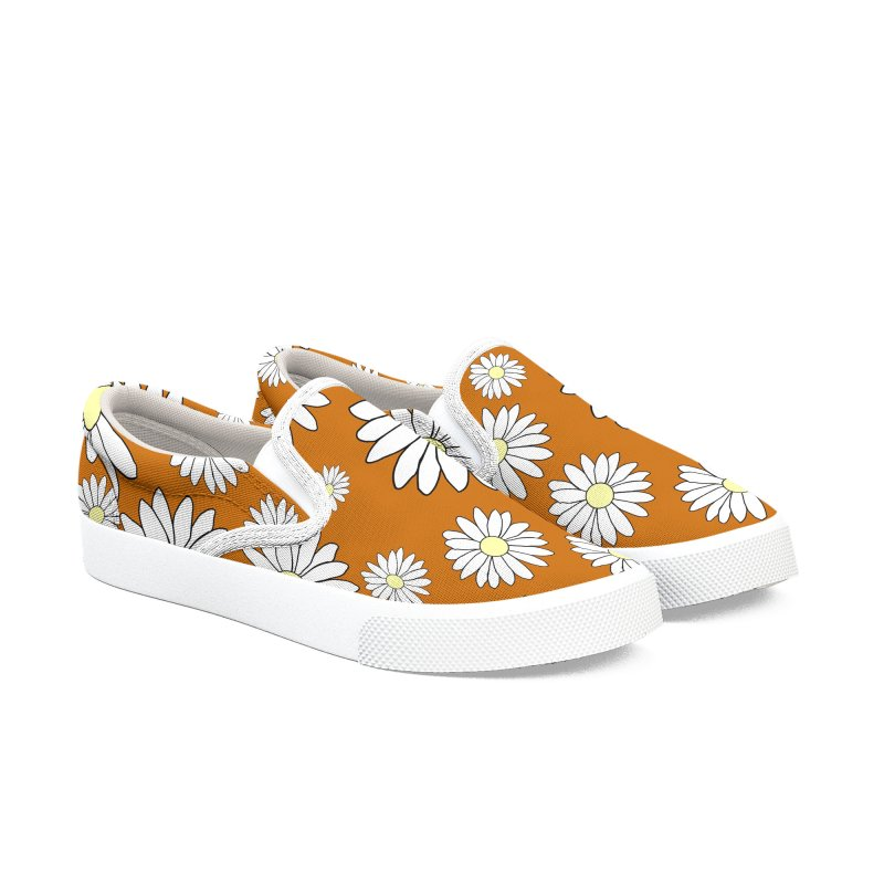 Daisy Chain Rusty Orange Men's Shoes by Painting Goat's Artist Shop