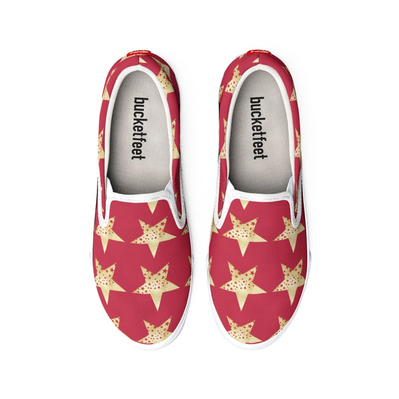 Stars in Mars Red Men's Shoes by Painting Goat's Artist Shop