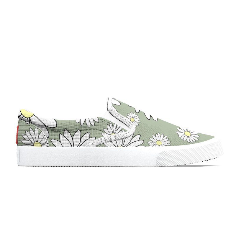 Daisy Chain Grey Turtle Women's Shoes by Painting Goat's Artist Shop