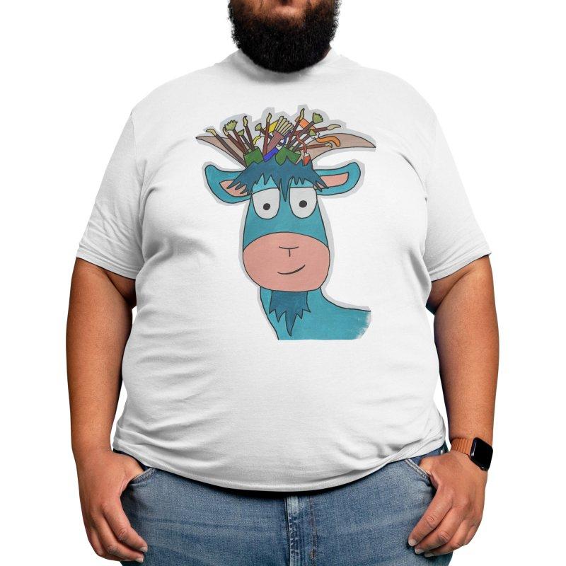 Painting Goat Pete Men's T-Shirt by Painting Goat's Artist Shop