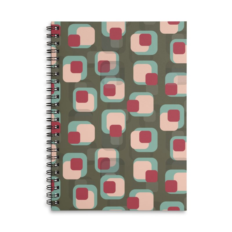 Retro Camouflage Accessories Notebook by Painting Goat's Artist Shop
