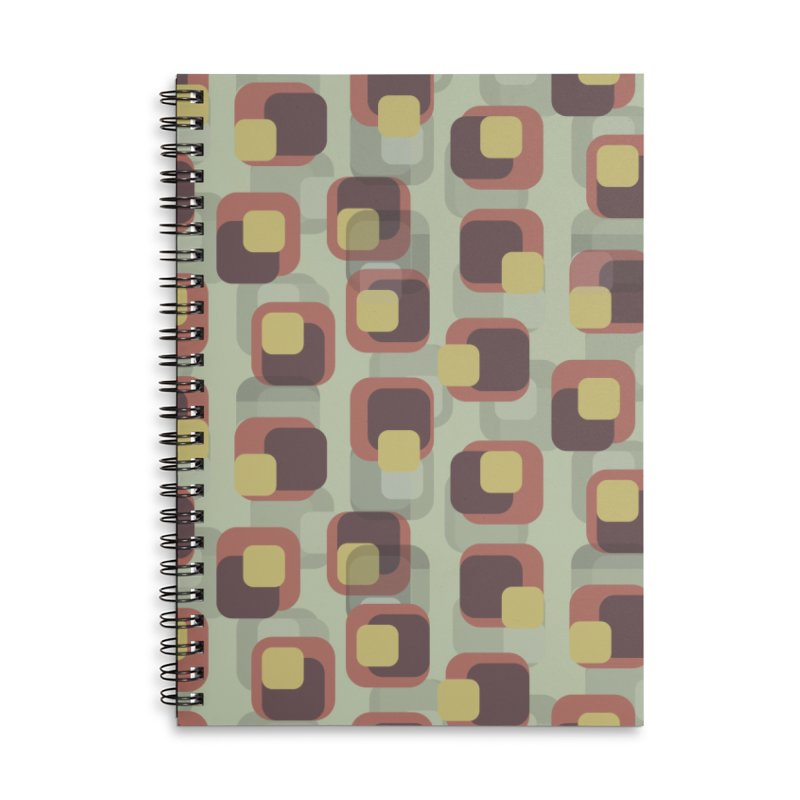 Retro Khaki Accessories Notebook by Painting Goat's Artist Shop