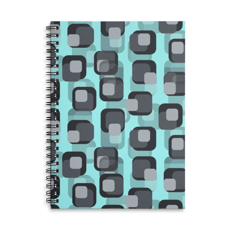Retro Mint Accessories Notebook by Painting Goat's Artist Shop