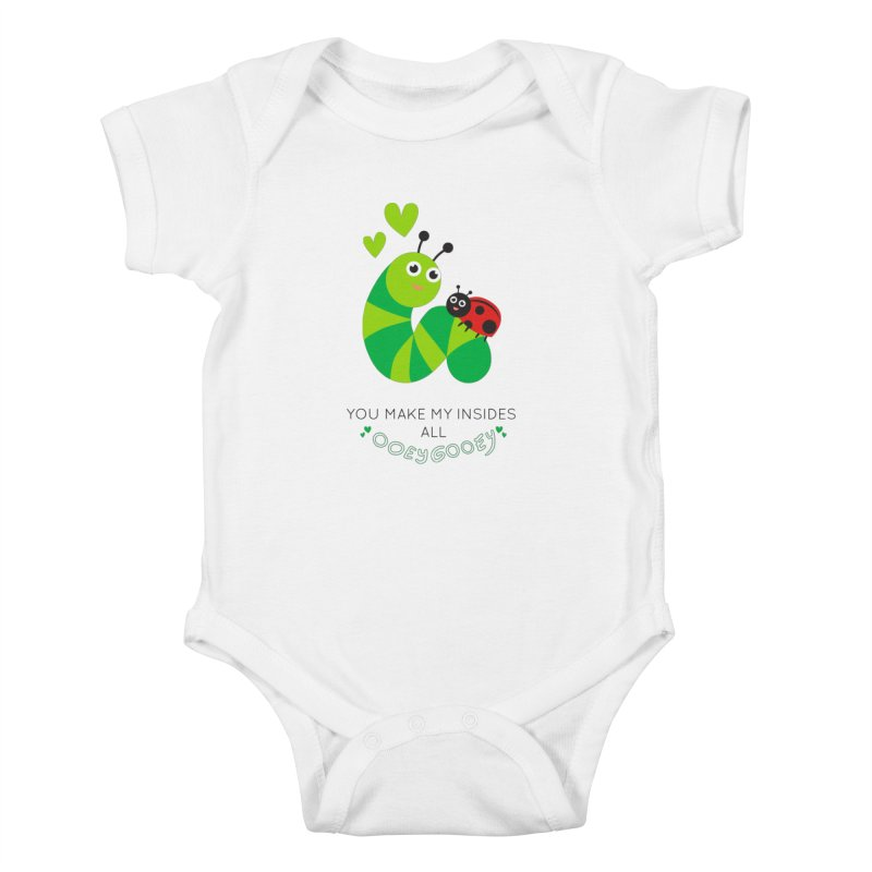 PALS OOEY GOOEY Kids Baby Bodysuit by Pals Socks Shirts