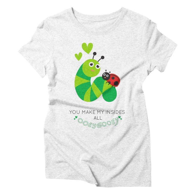 PALS OOEY GOOEY Women's Triblend T-shirt by Pals Socks Shirts