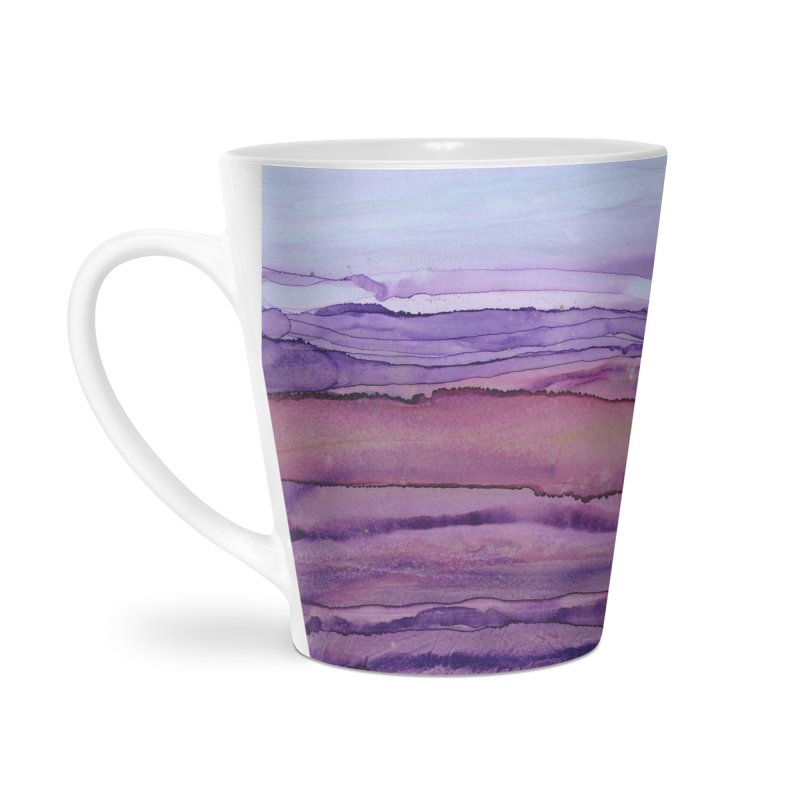 Purple Twilight in Latte Mug by