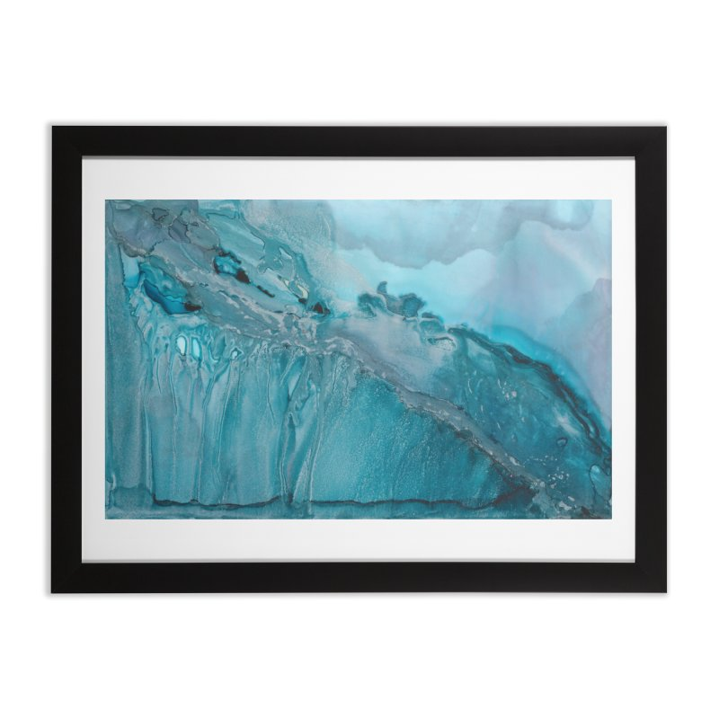 Icy Intentions in Framed Fine Art Print Black by
