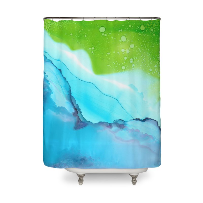 Gaia in Shower Curtain by