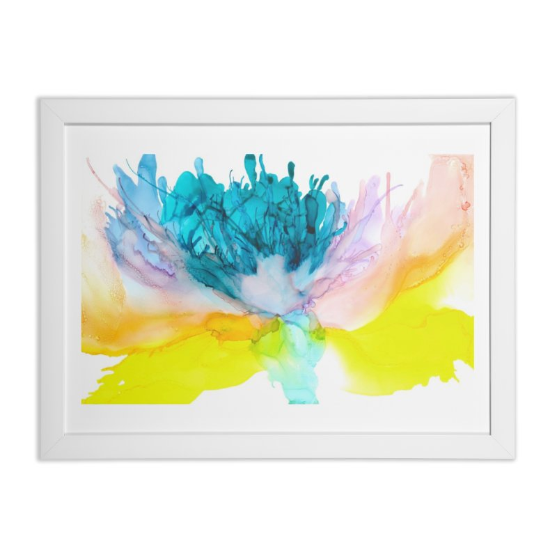 Spring Blossom in Framed Fine Art Print White by