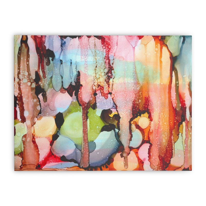 Technicolor Teardrops Home Stretched Canvas by