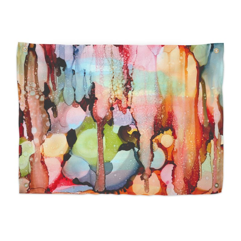 Technicolor Teardrops Home Tapestry by