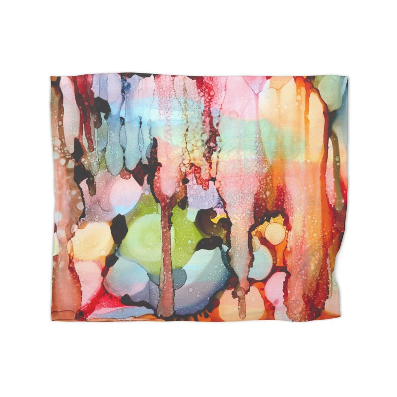 Technicolor Teardrops Home Fleece Blanket Blanket by