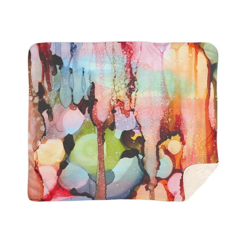Technicolor Teardrops Home Sherpa Blanket Blanket by