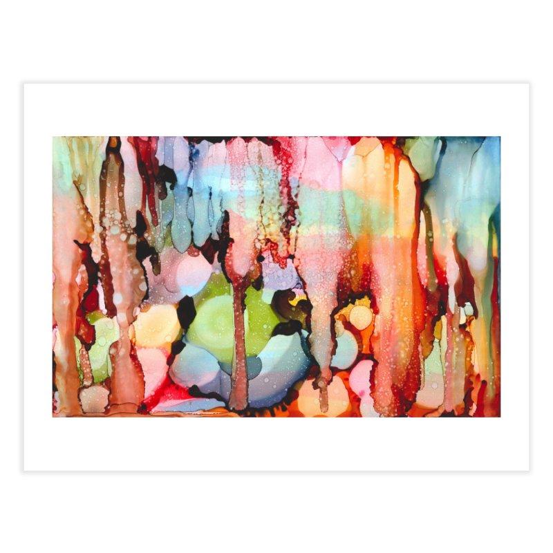 Technicolor Teardrops Home Fine Art Print by Pamela Habing's Art