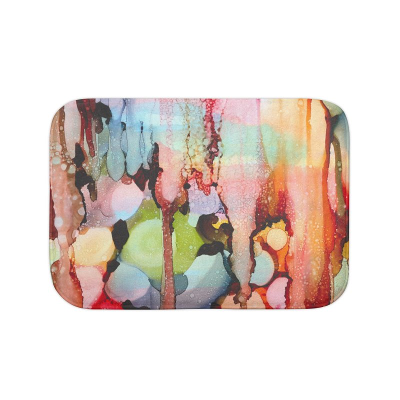 Technicolor Teardrops Home Bath Mat by
