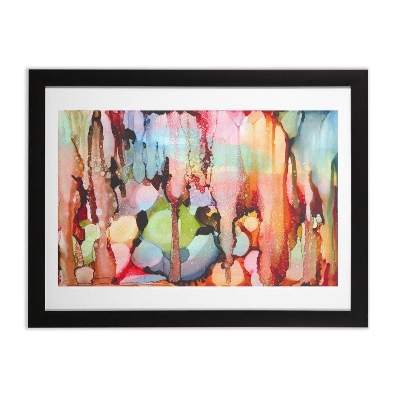 Technicolor Teardrops Home Framed Fine Art Print by