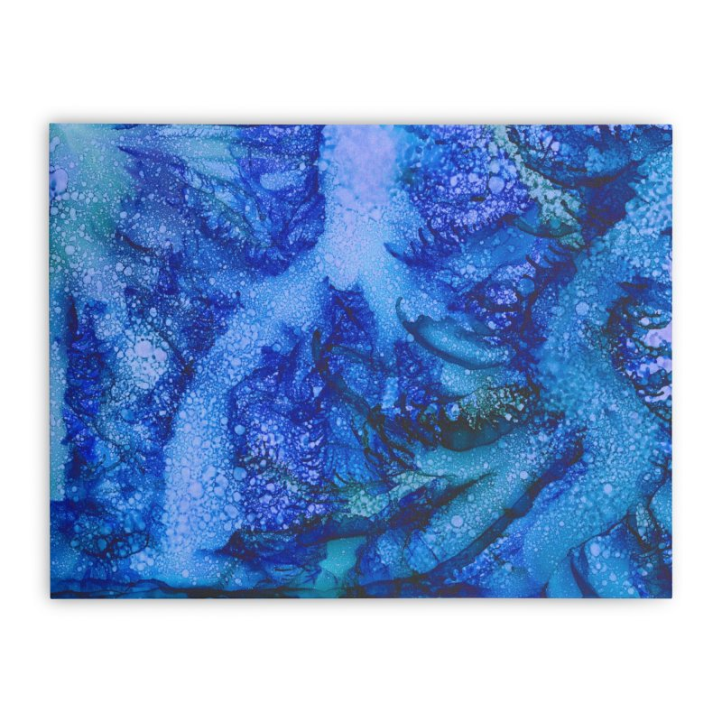 Indigo Ocean Home Stretched Canvas by